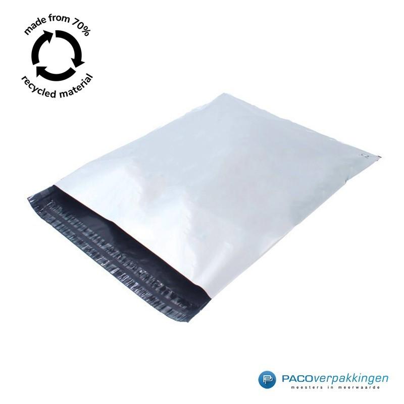Verzendzakken - Wit/grijs - A2+ - 70% Recycle - Retoursluiting - Tumbnail