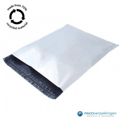 Verzendzakken - Wit/grijs - 70% Recycle - Retoursluiting - XXXL - Tumbnail