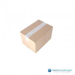 Verpakkingstape - Stippen - Zwart op wit - Gebruik