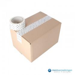 Verpakkingstape - Stippen - Zwart op wit - toepassing