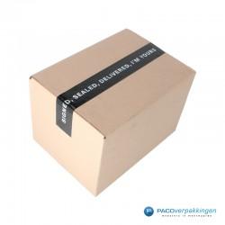 Verpakkingstape - Signed, Sealed, Delivered - Wit op zwart Gebruik