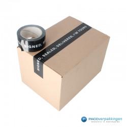 Verpakkingstape - Signed, Sealed, Delivered - Wit op zwart  - Toepassing