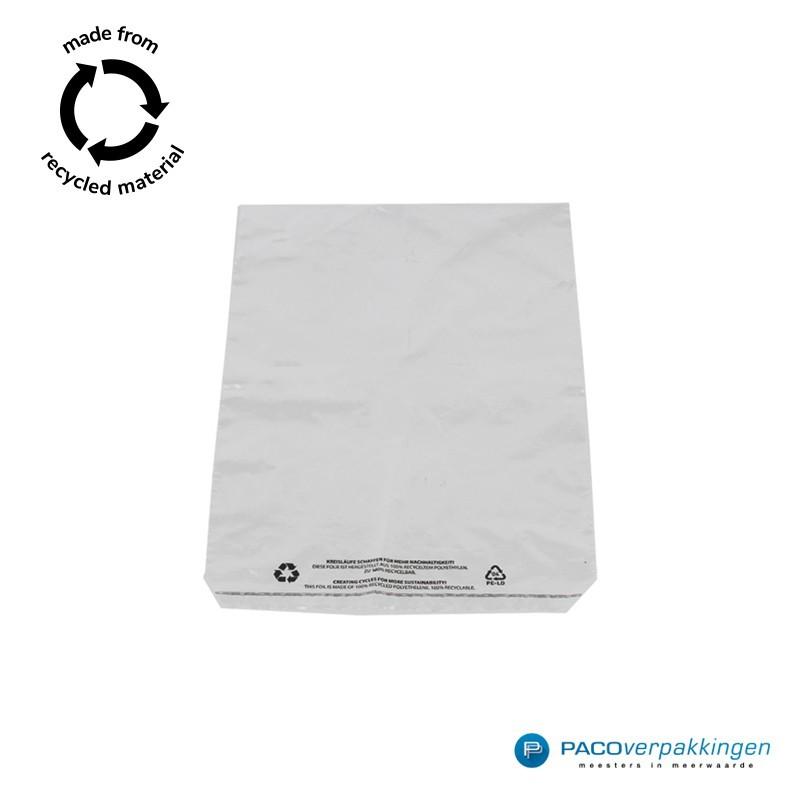 LDPE zakken met kleefstrip - A4+ - Transparant - Recycle