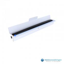 Inpakpapier - Folie - Effen - Zwart - Papieren Dispenser - Open