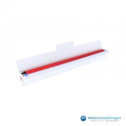 Inpakpapier - Folie - Effen - Rood - Papieren Dispenser - Open