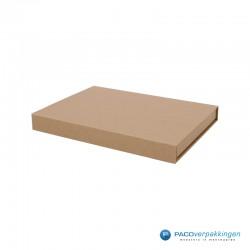 Magneetdoos - Brievenbusdoos - A5 - Naturel Kraft - Premium - Zijaanzicht Dicht