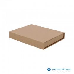 Magneetdoos - Brievenbusdoos - A6 - Naturel Kraft - Premium - Zijaanzicht Dicht