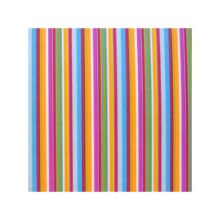 Inpakpapier - Strepen - Multikleur  (Nr. 1023)