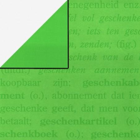 Inpakpapier - Letters - Groen (Nr. 1118)