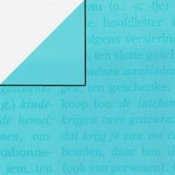 Inpakpapier - Letters - Blauw (Nr. 1120) - Close-up