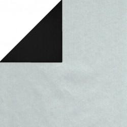 Inpakpapier - Effen - Zilver en zwart (Nr. 1740) - Close-up