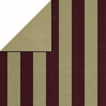 Inpakpapier - Strepen - Rood op goud (Nr. 3104)