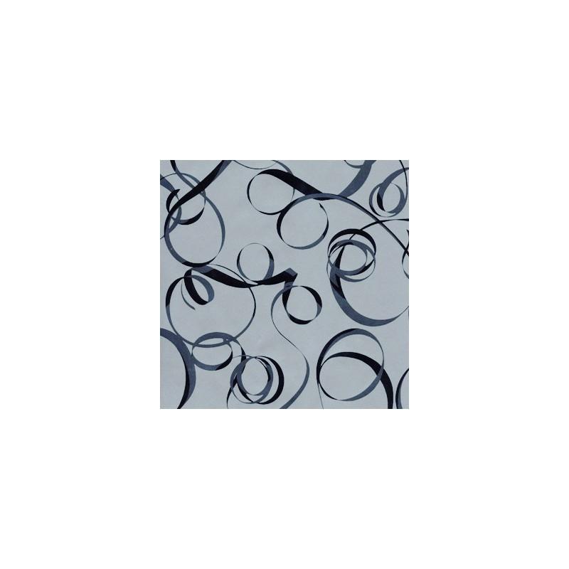 Inpakpapier - Linten - Zwart op zilver (Nr. 3220) - Close-up