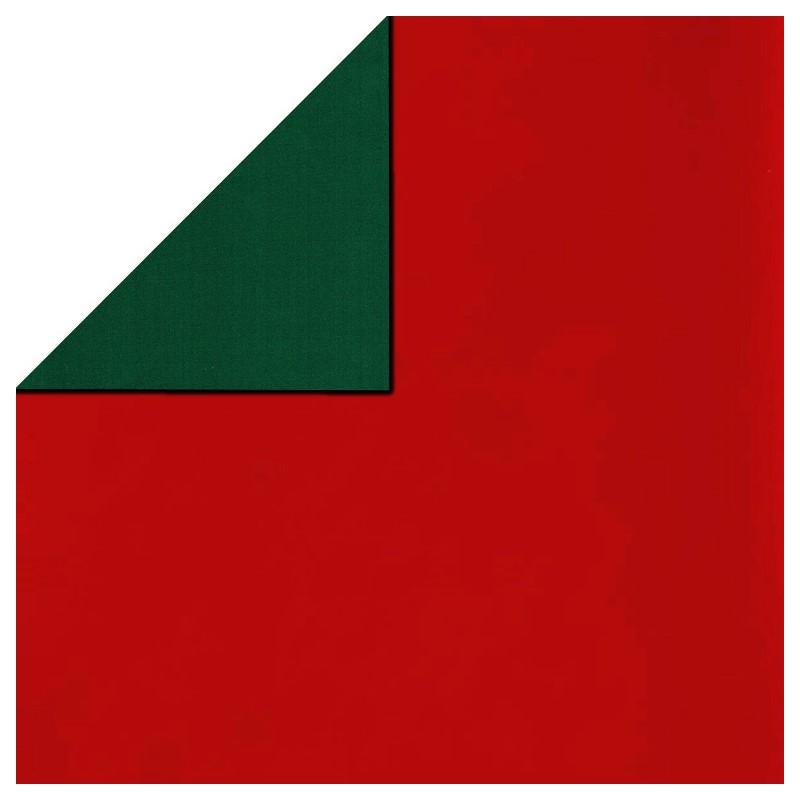 Inpakpapier - Effen - Glossy - Rood en groen (Nr. 5110) - Close-up
