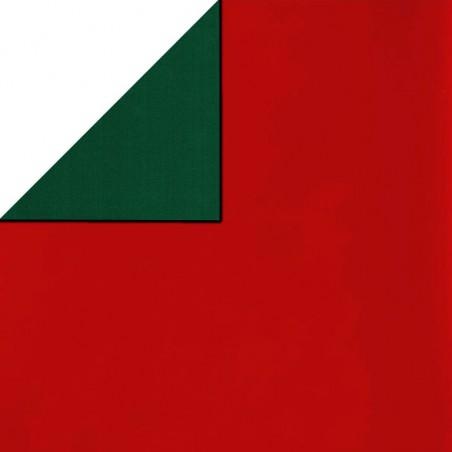 Inpakpapier - Effen - Glossy - Rood en groen (Nr. 5110)