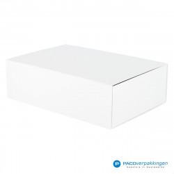 Magneetdoos - Wit Mat (Toscana) - Zijaanzicht dicht
