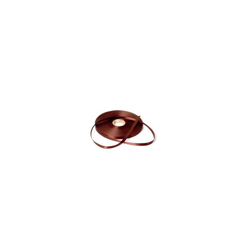 Satijn lint - Bruin - Vooraanzicht