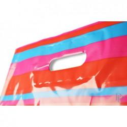 Plastic draagtassen - Streepdessin - Detail