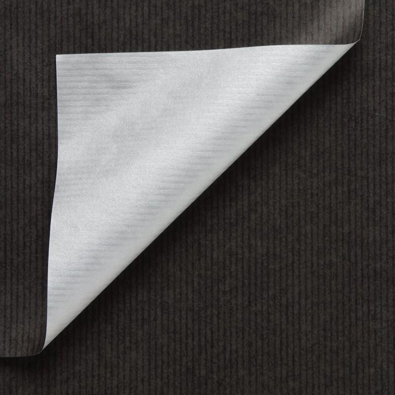 Inpakpapier - Effen - Glossy - Zwart en zilver (Nr. 994) - Close-up