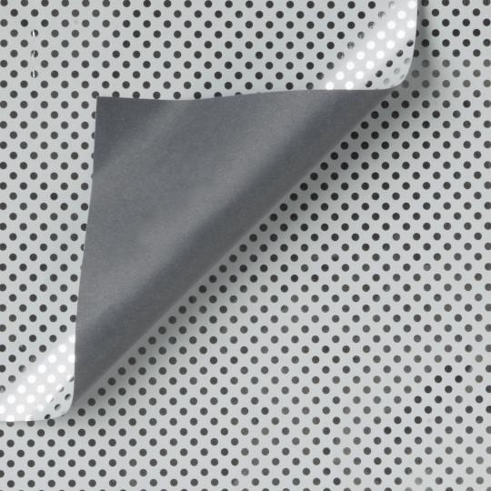Inpakpapier - Stippen - Zilver op grijs (Nr. Zp948)