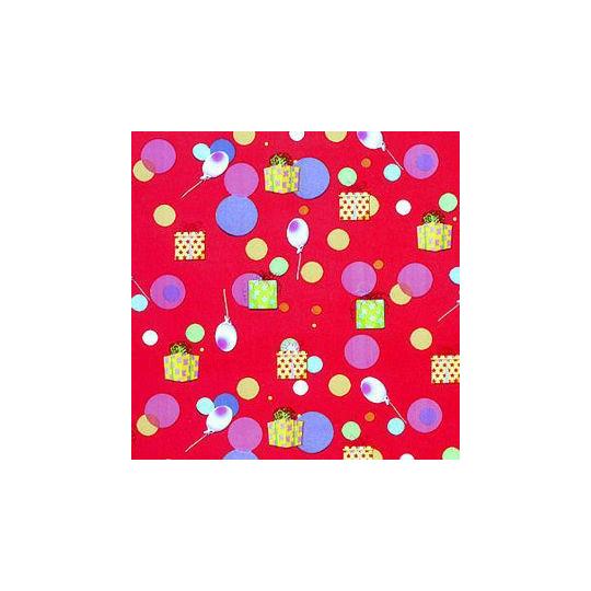 Inpakpapier - Balonnen - Rood (Nr. 1206)