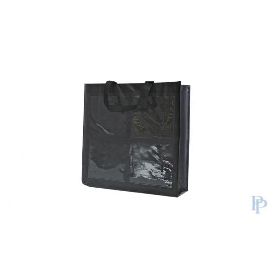 Boodschappentassen - Zwart - 4 Vakken
