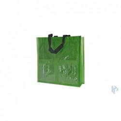 Boodschappentassen - Groen - 4 Vakken - Zijaanzicht