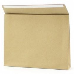 Geschenkzakjes papier - Bruin Kraft (Palermo) - Zijaanzicht