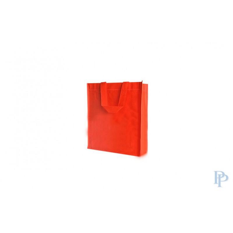 Non Woven Tassen - Oranje - Lange hengsels - Vooraanzicht