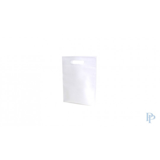Non Woven Tassen - Wit - Uitgesneden handvaten