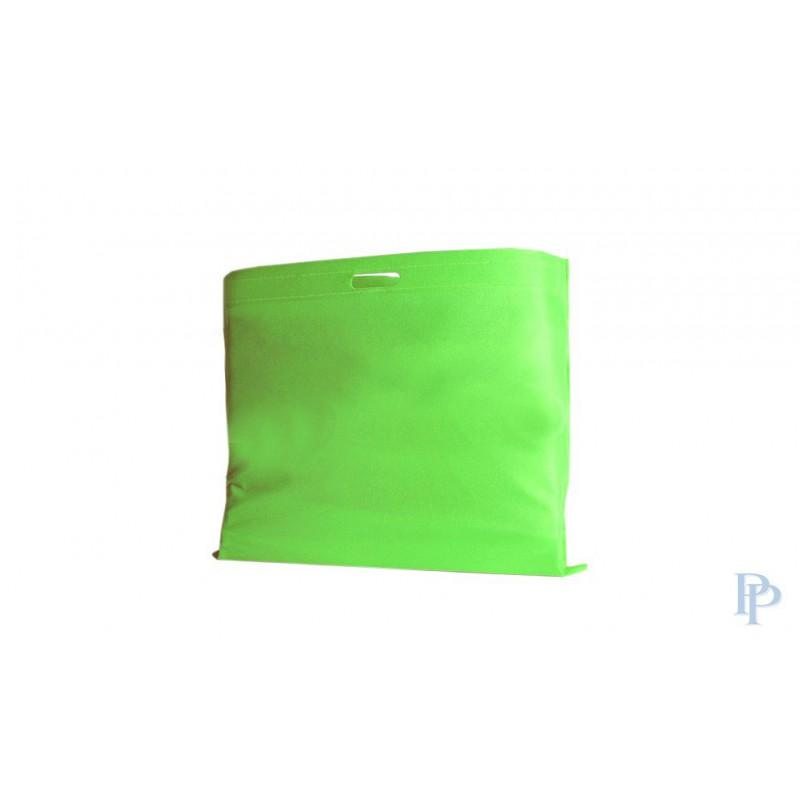 Non Woven Tassen - Groen - Uitgesneden handvaten - Vooraanzicht