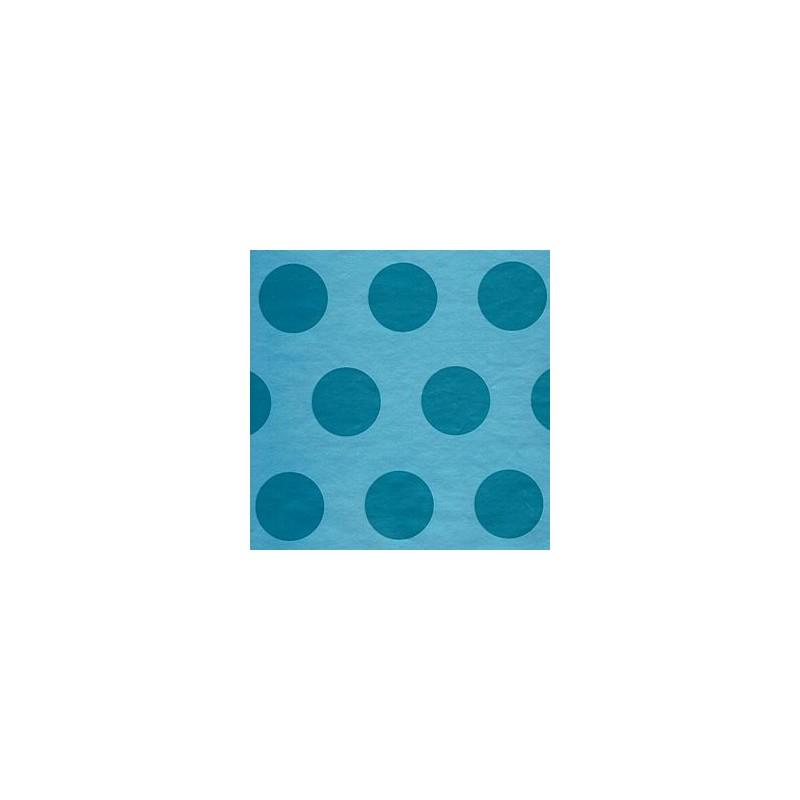Inpakpapier - Stippen - Blauw (Nr. 2018) - Close-up