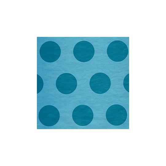 Inpakpapier - Stippen - Blauw (Nr. 2018)