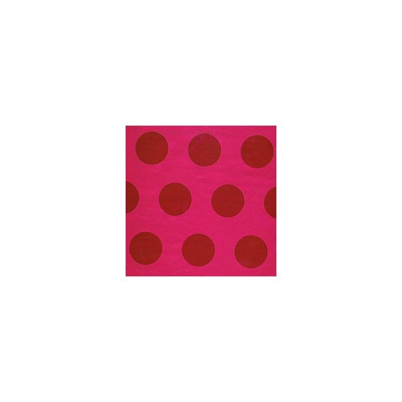 Inpakpapier - Stippen - Rood op roze (Nr. 2016) - Close-up