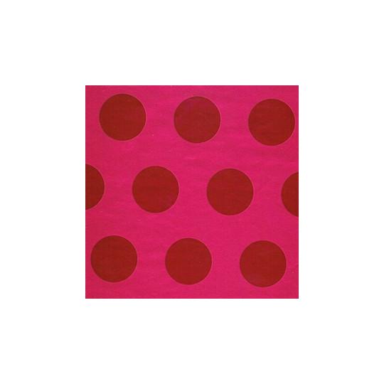 Inpakpapier - Stippen - Rood op roze (Nr. 2016) - Outlet