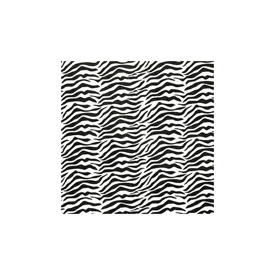 Inpakpapier - Zebra - Zwart op wit (Nr. 1025)