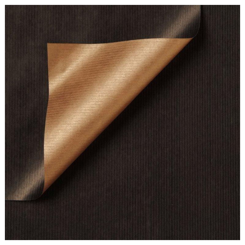 Inpakpapier - Effen - Zwart en koper (Nr. 996) - Close-up