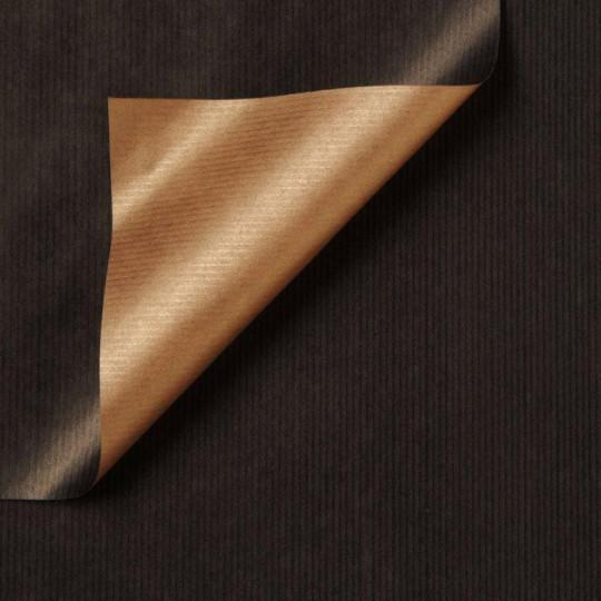 Inpakpapier - Effen - Zwart en koper (Nr. 996)