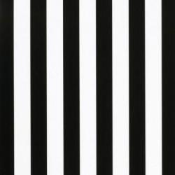 Inpakpapier - Strepen - Zwart op wit (Nr. 3226) - Vooraanzicht
