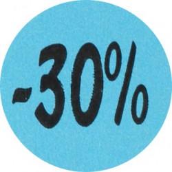 Kortingsstickers - 30% - Blauw - Vooraanzicht