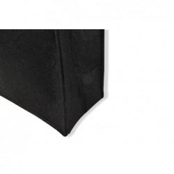 Vilten tassen - Zwart - Detail