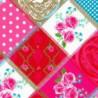 Inpakpapier - Natuur - Rozen - Roze (Nr. 809) - Close-up