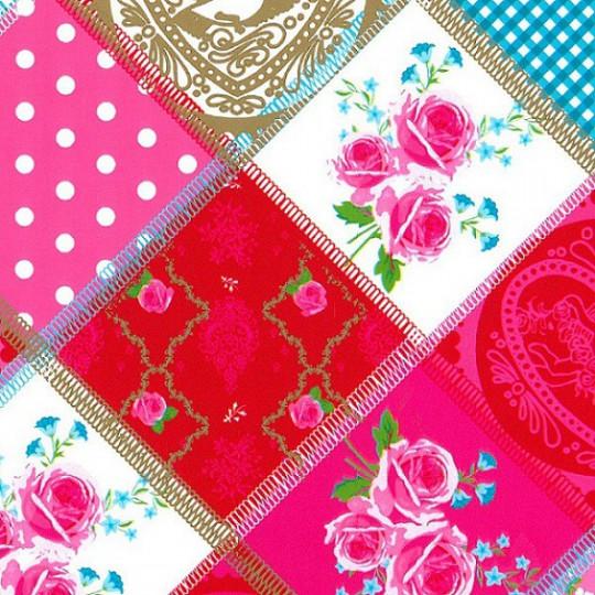 Inpakpapier - Natuur - Rozen - Roze (Nr. 809)