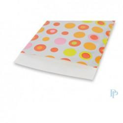 Papieren zakjes - Zilveren bolletjes - Detail
