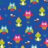 Inpakpapier - Dieren - Multikleur op blauw (Nr. 413) - Close-up