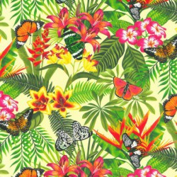 Inpakpapier - Natuur - Vlinders - Multikleur op groen (Nr. 807) - Close-up