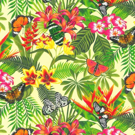 Inpakpapier - Natuur - Vlinders - Multikleur op groen (Nr. 807)