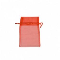 Organza zakjes - Rood - Oude collectie - Vooraanzicht open