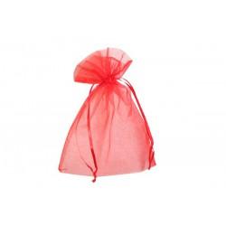 Organza zakjes - Rood - Oude collectie - Vooraanzicht dicht