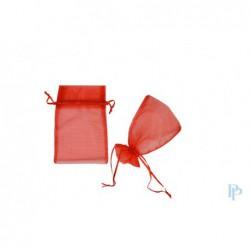 Organza zakjes - Rood - Oude collectie - Vooraanzicht open en dicht